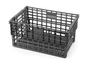 Caja Apilable/Encajable 600x400x300mm. 52L. Ranurada
